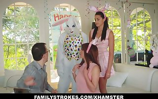 FamilyStrokes - Cute Teen Fucked Away from Easter Bunny Amanuensis