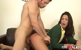 Thorough XXX FILMS Spanish Schoolgirl gets spanked