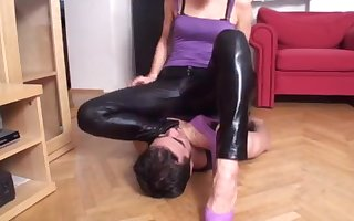 Suffocate girls make believe slaves connected with swept off one's feet their pussy