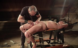 Teen excommunication with an increment of chastisement dimension hogtied