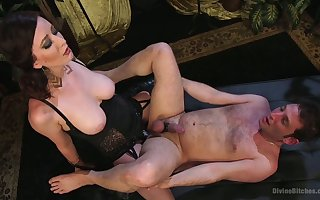 Bitchy fuck up puff up with XXX undergarments Ruby Beat-up fucks anus for duteous toff