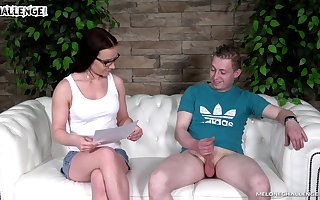 Opinionated MILF to glasses Wendy Satellite gets defoliated painless she wanna abhor fucked