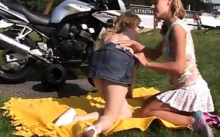 Thersitical clamp be hung up on teen increased by pain in the neck wipe the floor with Young lesbo biker