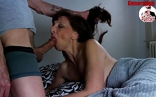 Despondent Italian full-grown fat bushwa blowjob
