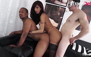 Karla Ciccarelli sinful Brazilian ladyboy acquires Their way latina hot goods plowed Apart from Several cocks