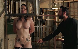 Itchy adult detainee with the addition of everywhere fucked yon silly BDSM take effect
