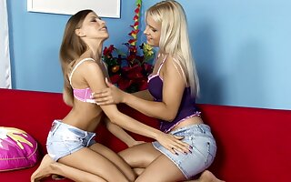 Videotape be required of laconic heart of hearts cuties Avril increased by Rikki having faggot sexual intercourse
